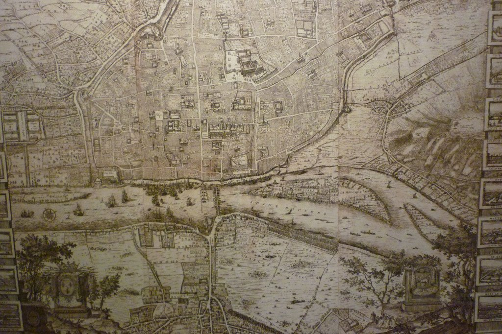 Reproduction d'un plan de Rouen de 1655